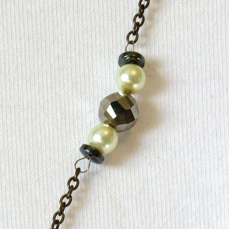 Crystal drop pendant decorative chain detail