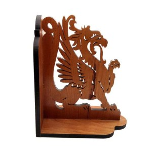 Griffin book end - cherry wood.