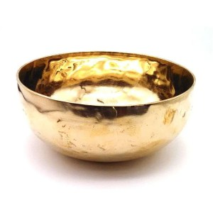 Six and one half inch metal Tibetan singing bowl.