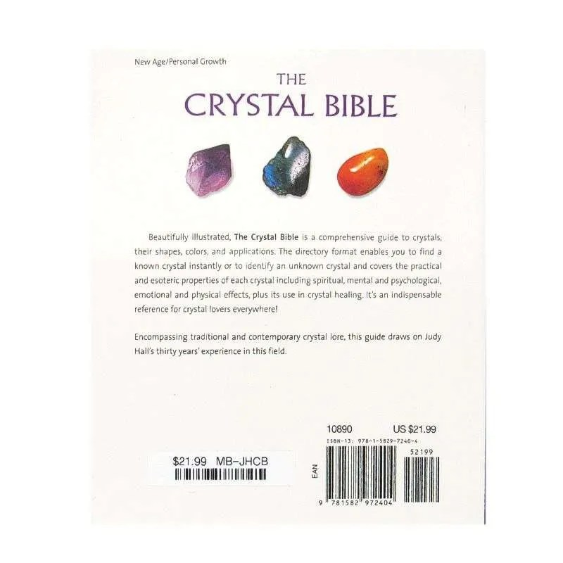 Back cover of The Crystal Bible by Judy Hall