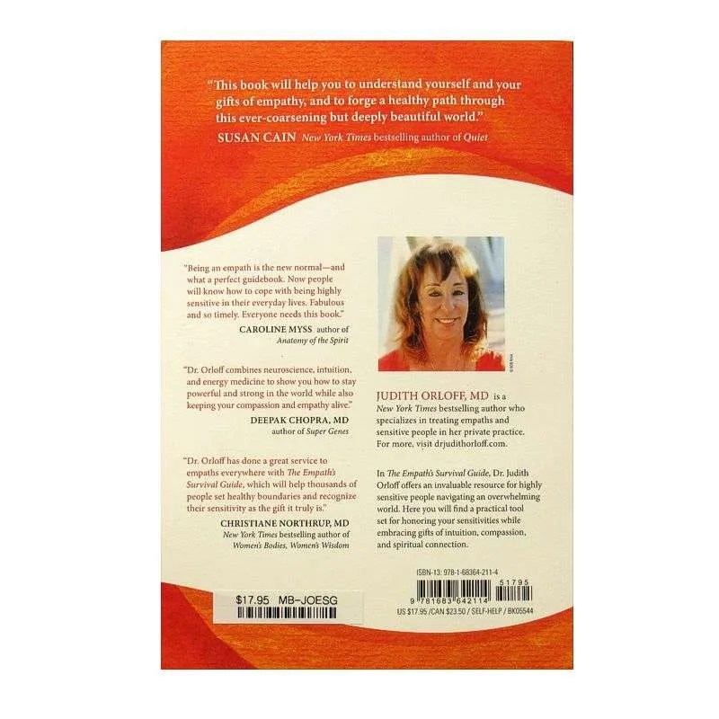 Back cover of The Empath's Survival Guide by Judith Orloff