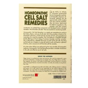 Back cover of Homeopathic Cell Salt Remedies by Nigey Lennon