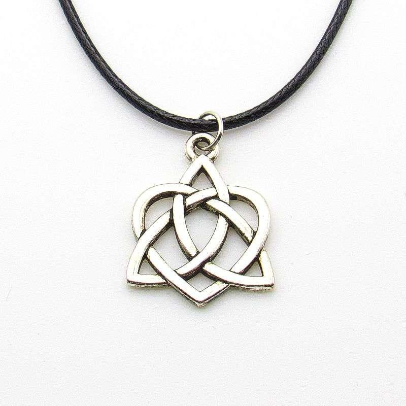 Metal Celtic knot heart pendant-silver