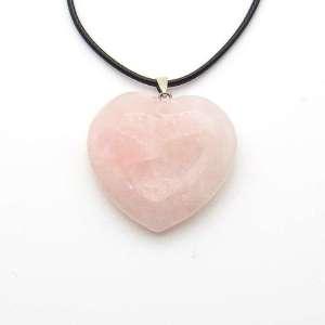 1.5 inch rose quartz heart pendant