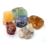 Small rough calcite nuggets.