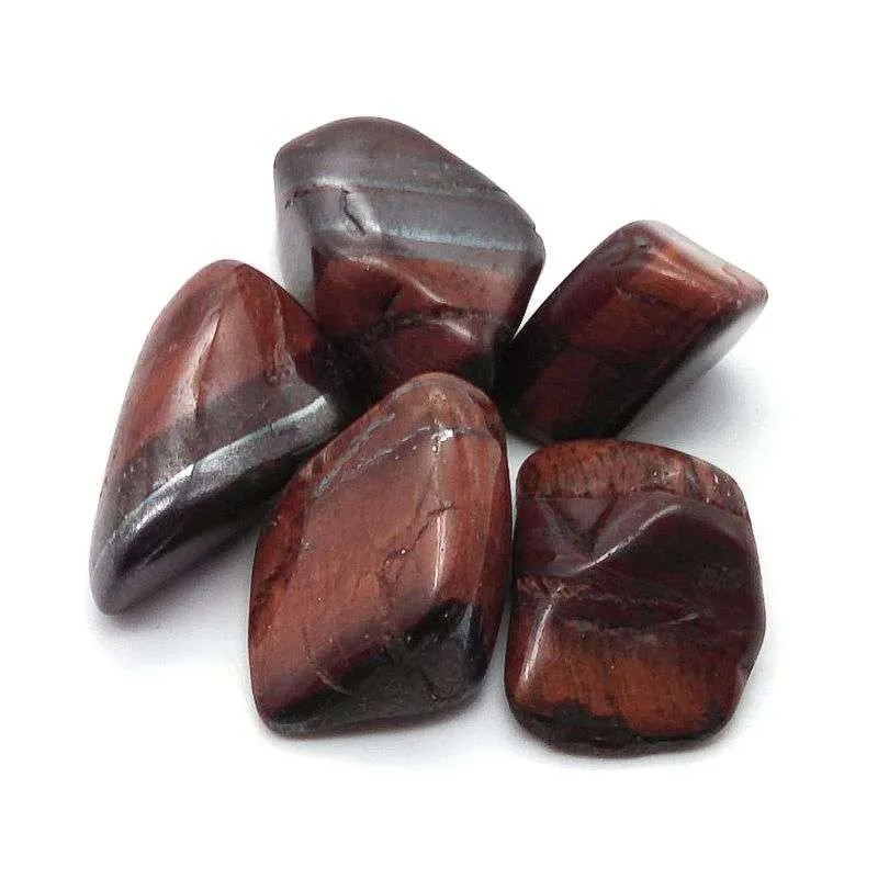 Tumbled red tiger's eye.