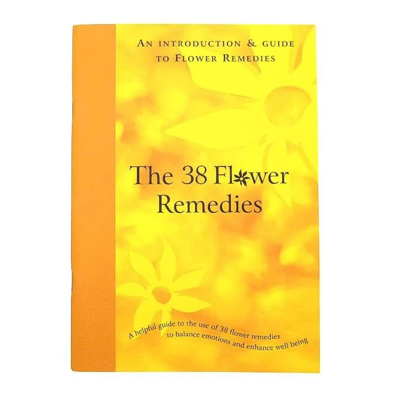 Front cover of the 38 Flower Remedies booklet.