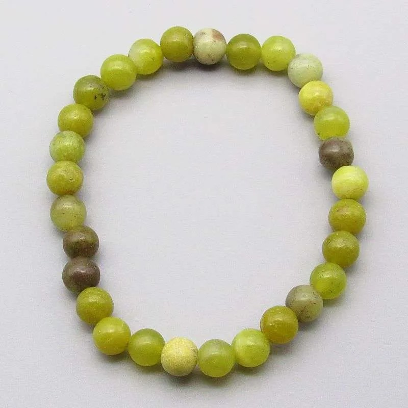 Multi-serpentine 6mm gemstone bead bracelet.