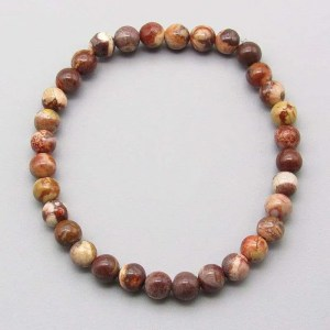 Bird's eye rhyolite 6mm gemstone bead bracelet.