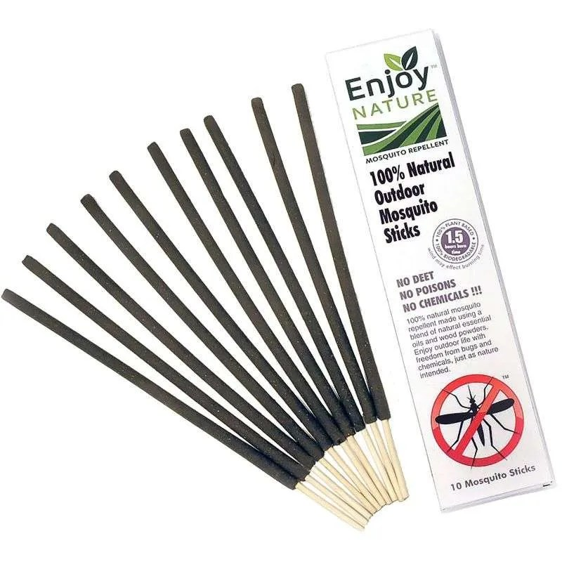 Natural mosquito repelling incense sticks.