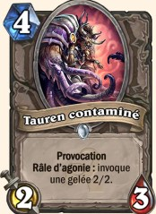 Tauren infesté carte Hearthstone