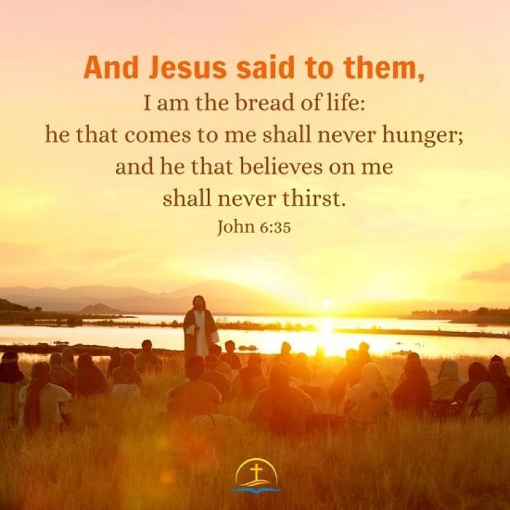 John 6:35 - Bible Verse Image About Life