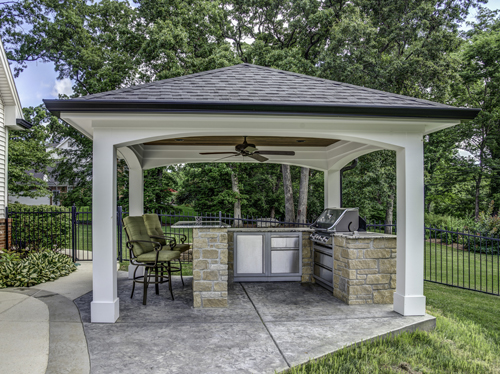 Outdoor Kitchen Areas - Grilling Area, BBQ, Fireplaces ... on Patio Grilling Area  id=90810