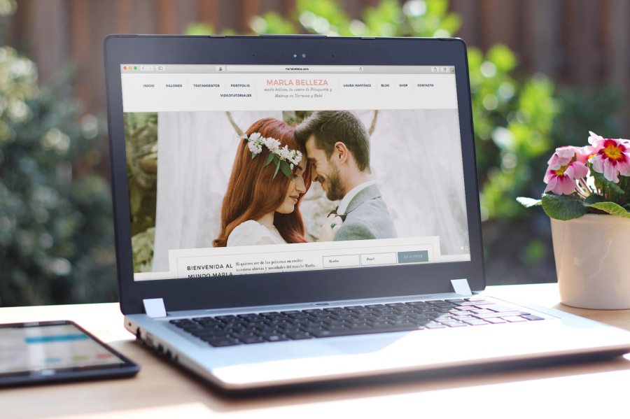 website design for the wedding hair stylist Marla Belleza - by Claudia Orengo from Heartmade.es