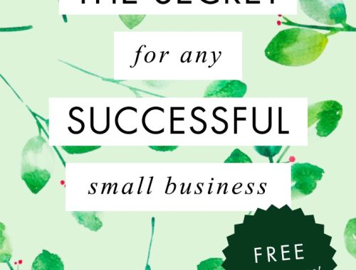 The secret key from any successful small business