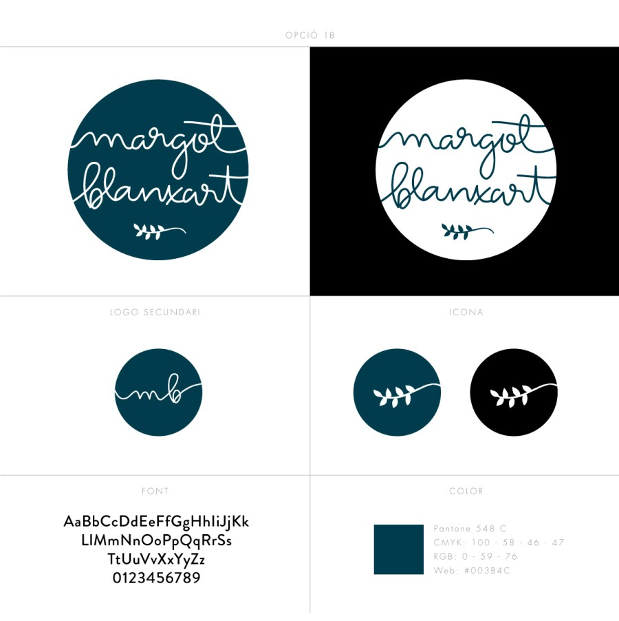 Logo Design for Boho Floral Accessories - Margot Blanxart - Designed by Claudia Orengo from Heartmade.es