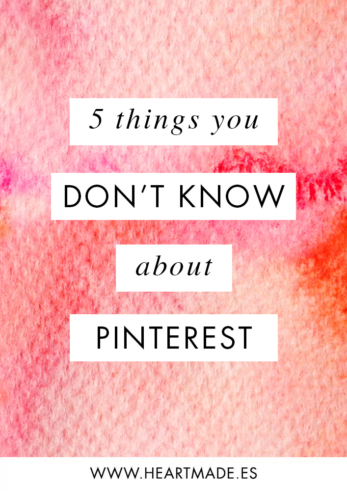 Many clients have told me that they are in Pinterest but they don't know how to use it professionally. I totally get them, because I was in the same situation until I took a course and I discovered the magic of Pinterest. That's why Today I want to share with you 5 things you probably don't know about Pinterest: