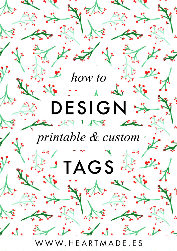 In this tutorial, I'm gonna be teaching you how to design your Christmas tags with Illustrator. We will create a printable file totally customizable with any text or names you want.