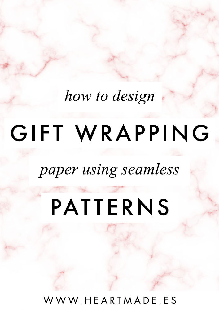 In this video tutorial I'll teach you how to design your own homemade gift wrapping paper using seamless patterns.