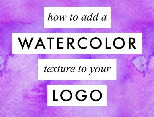 I decided to record a video showing another technique that can be very useful for all of you who want to add a watercolor texture to your logo with Photoshop :)