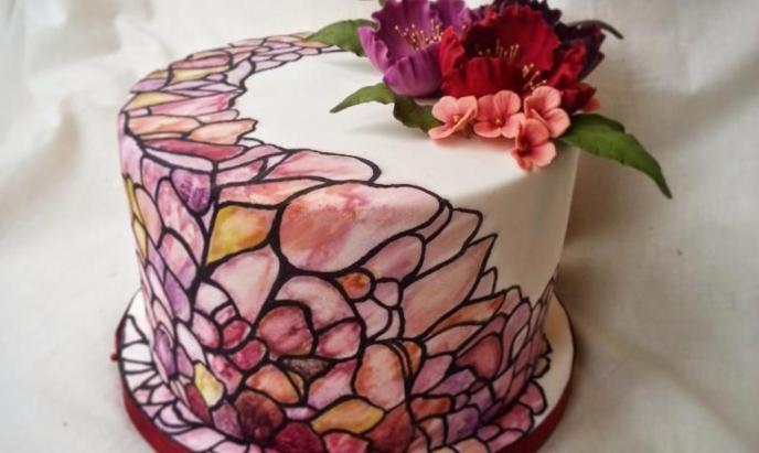 stained glass cake - Stained Glass Cake