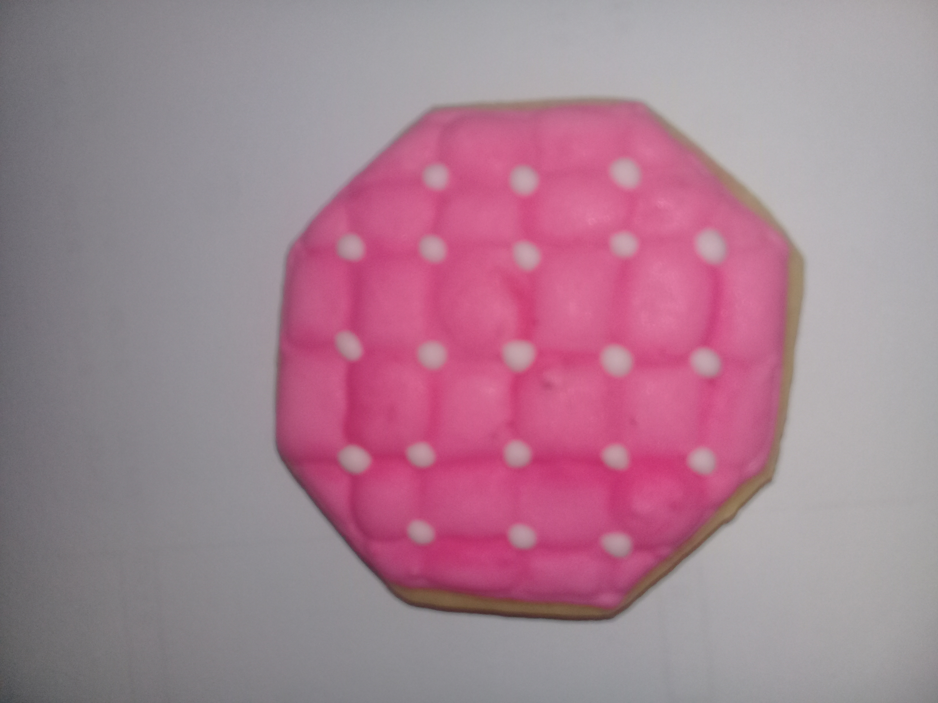 Pink and White Quilt Cookie 1 - Cookies by Me