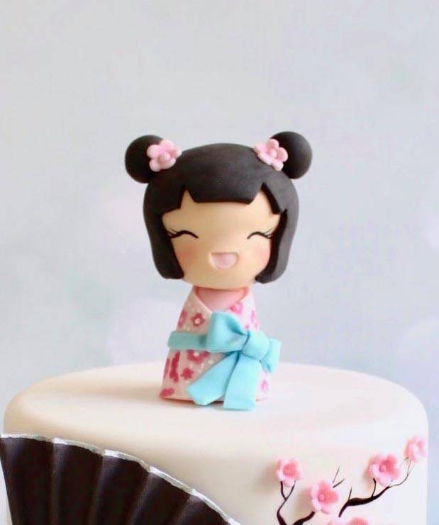 chinese girl clay - Fondant Character Ideas