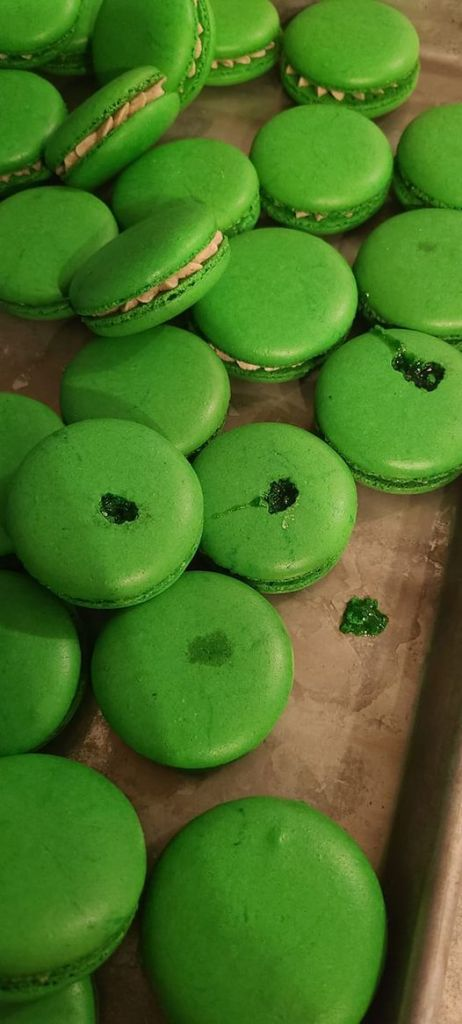 green - Maple Syrup in Macarons