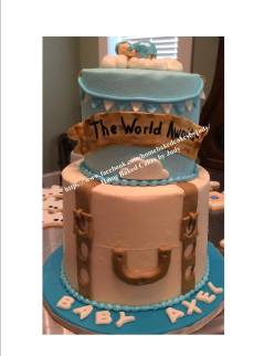 Baby Shower Travel cake - Home Baked Cakes by Judy