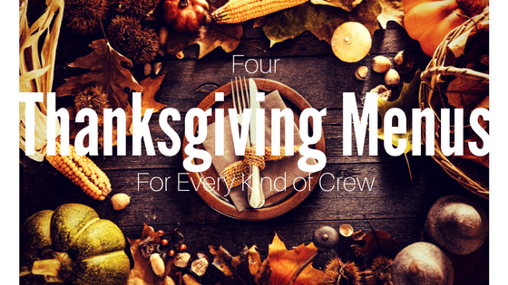 Four Thanksgiving Menus for Every Kind of Crew