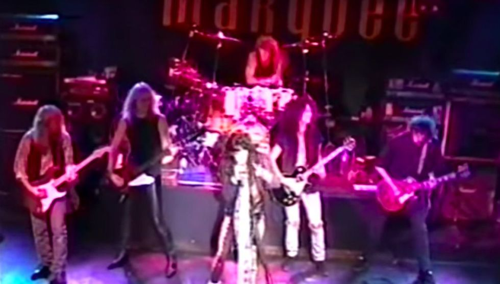 jimmy page aerosmith marquee 1990