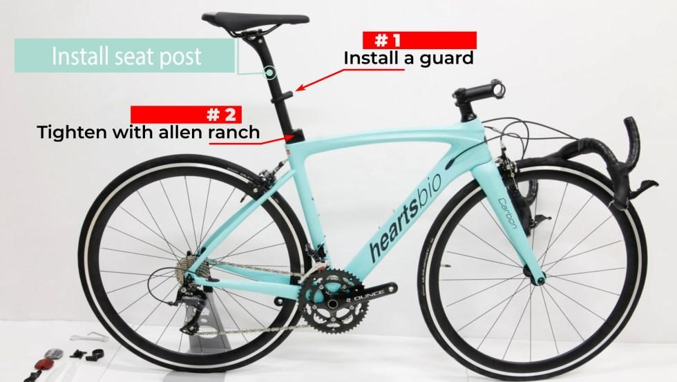 HeartsBio Carbon Road Bike 18.7lb Model H