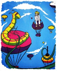 Alice and the Caterpillar Silkscreen