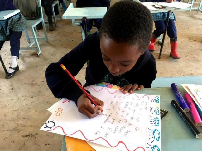 Pen pal letter exchange from the children at Bethany School