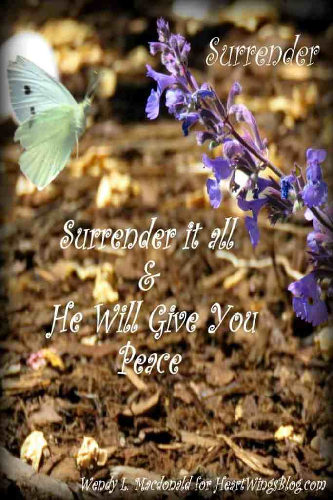 Surrender it All & He Will Give You Peace Wendy L. Macdonald for HeartWingsBlog.com