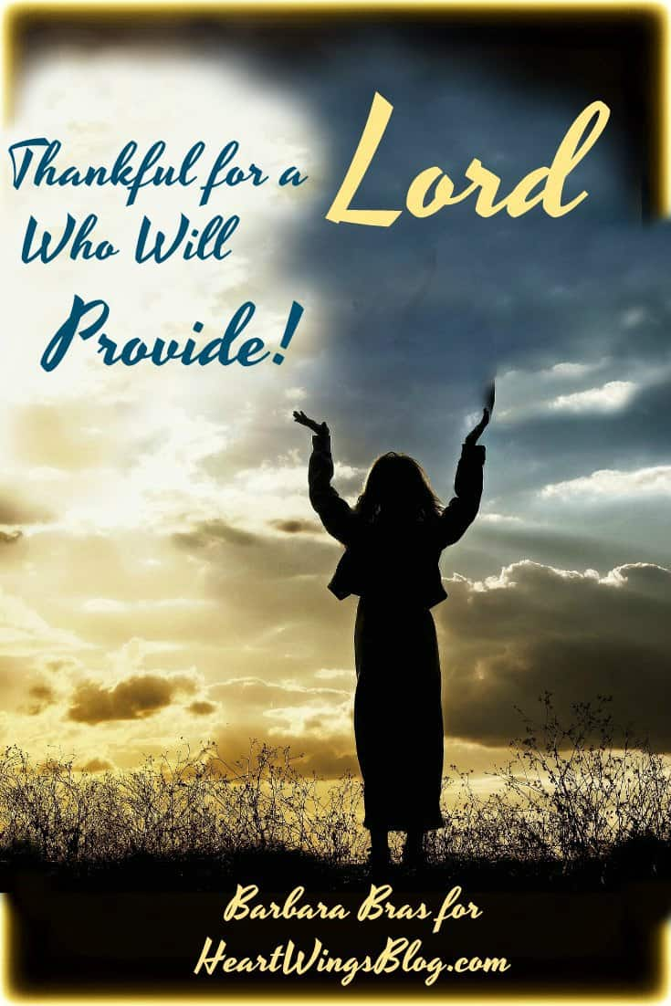 Barbara Bras is Thankful for a Lord Who Will Provide and shares at HeartWings Blog