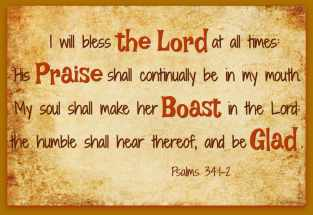 Bless the Lord forever!