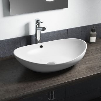 cali vessel oval counter top basin 580mm wide 0 tap hole
