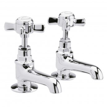 nuie beaumont basin taps pair chrome