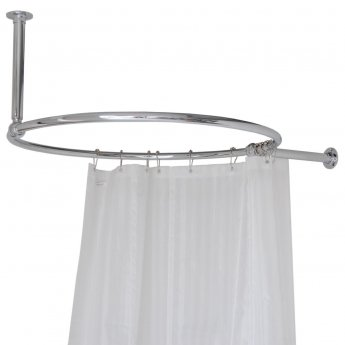 west luxury round shower curtain rail ceiling and side stays 850mm wide