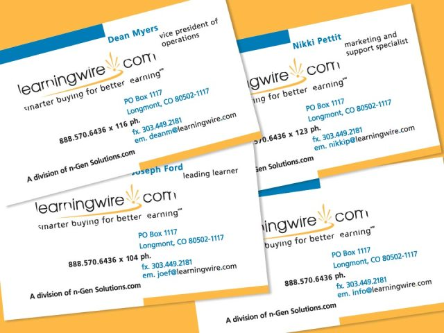 learningwire.com Business Card Design