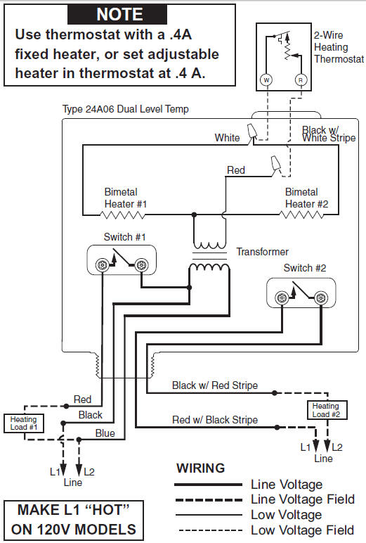 whiterodgers dual level temp relay