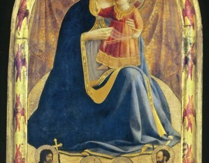 FRA ANGELICO THE MADONNA OF HUMILITY, c. 1430 (Tempera on panel)