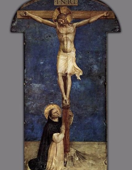 FRA ANGELICO, ST. DOMINIC ADORING THE CRUCIFIXION