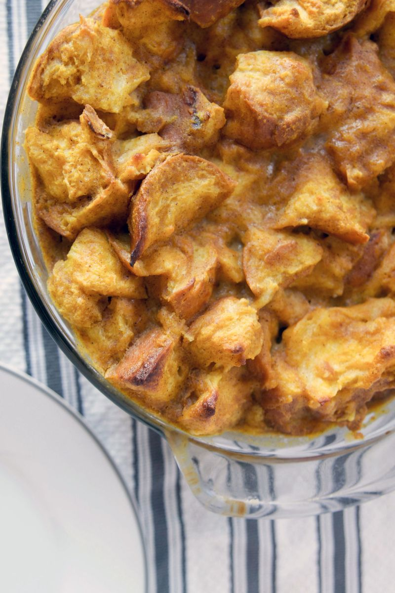 The Taste of Fall: Pumpkin Challah Bread Pudding