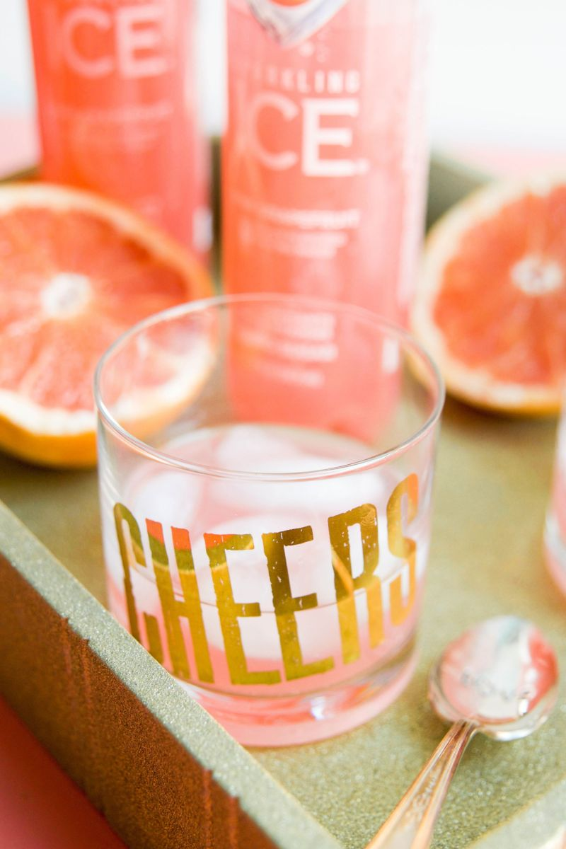 Serving Up A Grapefruit Sparkling Cocktail with Sparkling Ice
