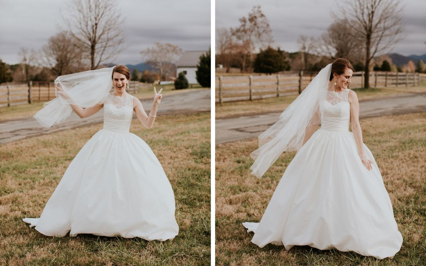 augusta jones paz dress - winter wedding ballgown dress