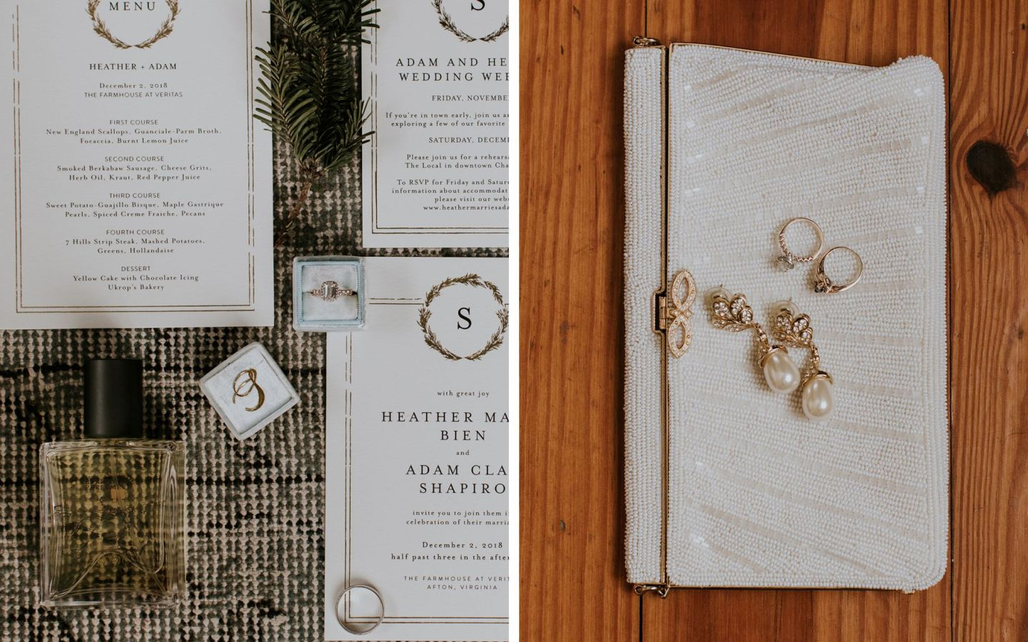 charlottesville bride - charlottesville wedding -bridal clutch - burren perfumery winter woods - winter bride