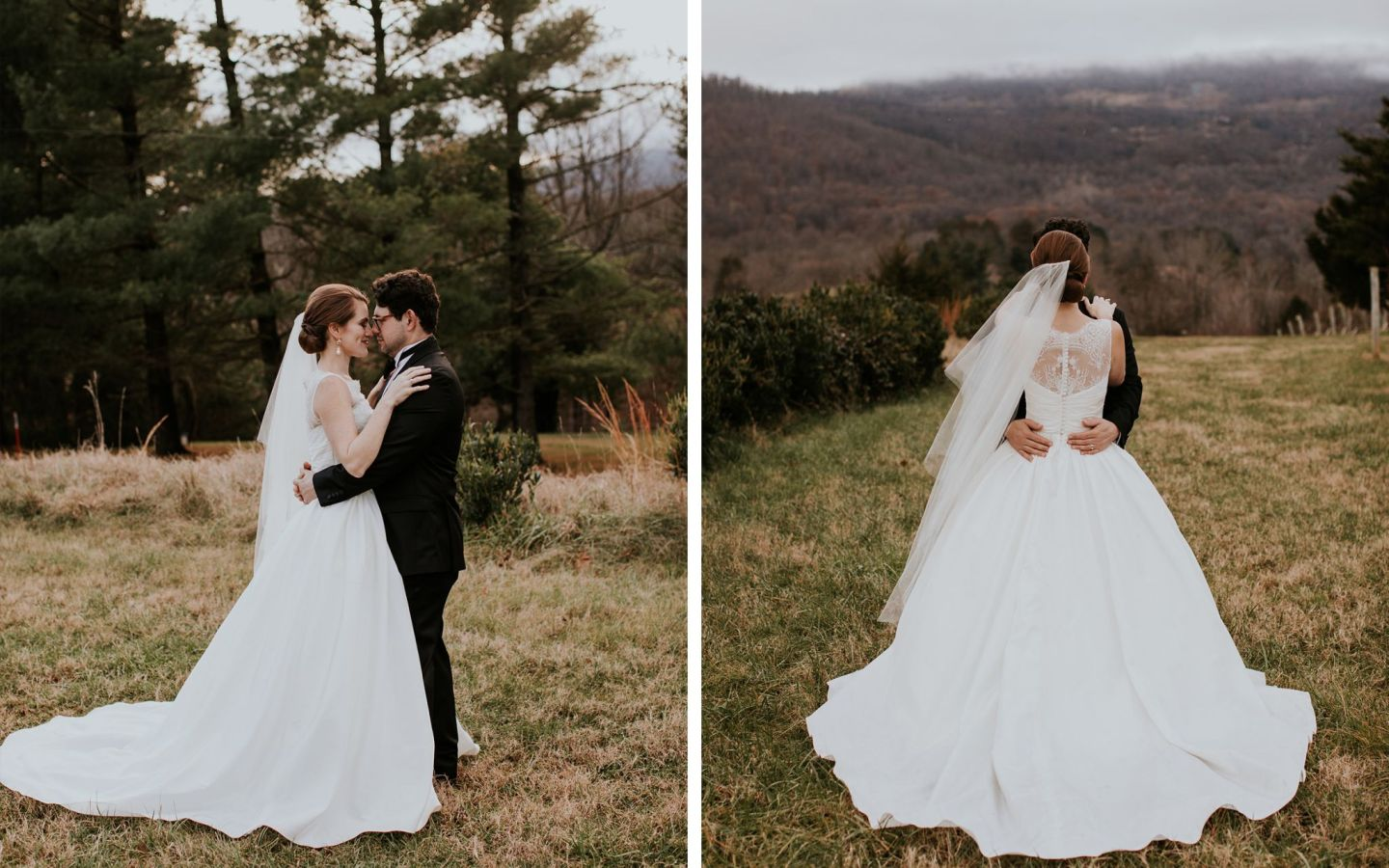 charlottesville bride - charlottesville wedding - augusta jones wedding dress - augusta jones paz - winter bride - farmhouse at veritas wedding