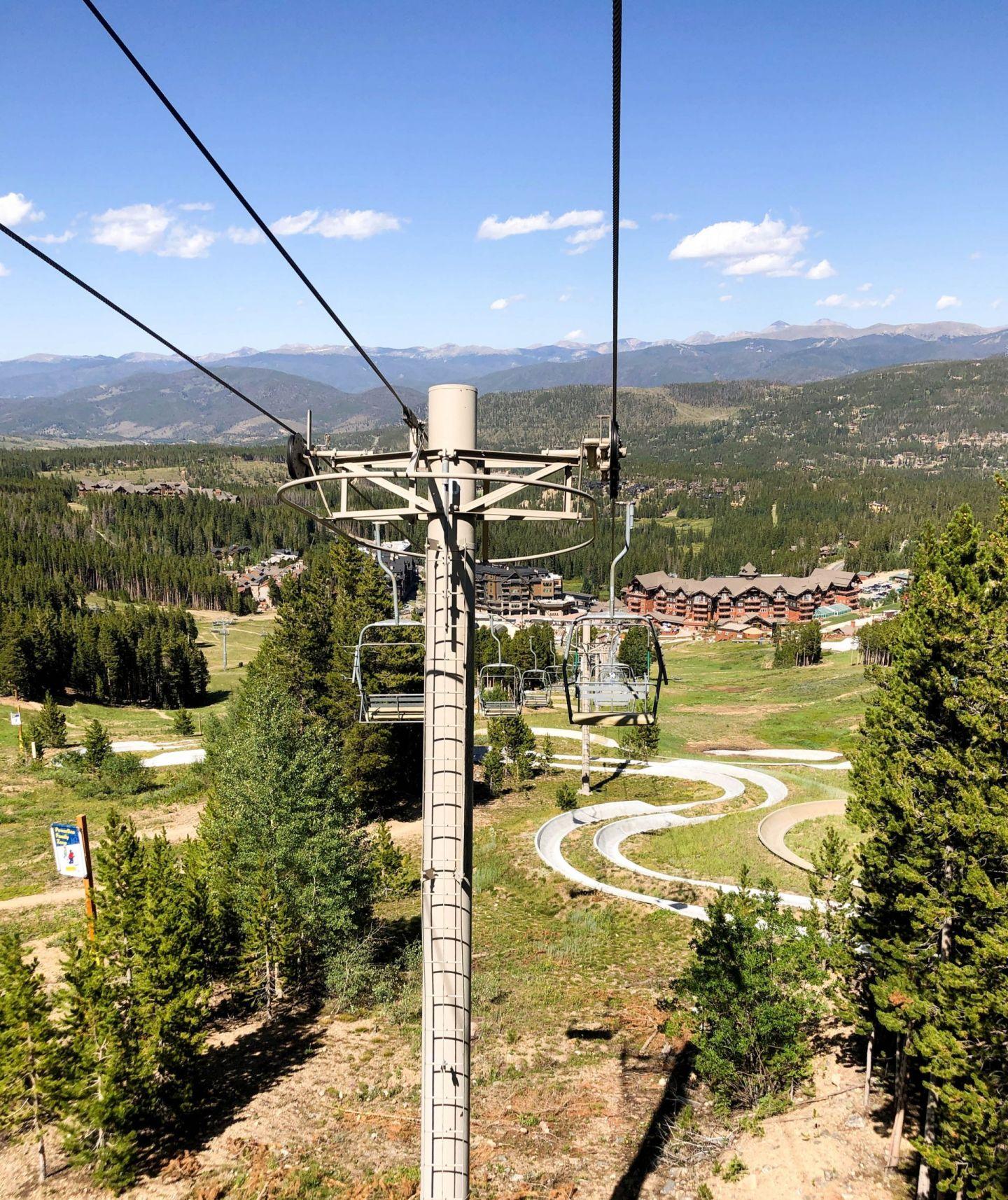 breckenridge top of mountain - breckenridge alpine slide